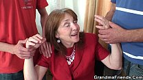 stockings in granny old years 80 with 3some Office