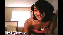 Hot black babe dancing and teasing on webcam