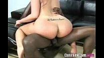 black dick fucks white chick on webcam