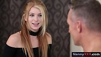 Petite babysitter pounded by masculine man in h...