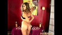 Sexy asian strip and masturbate