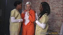 cellmates lesbian black her by fucked gets ivory Jenna