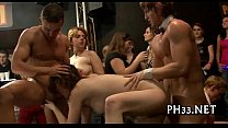 Tons of blonde ladies engulfing cocks