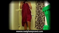 hidden bathroom cam spies on sandy showering