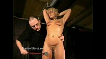 Bizarre caning to tears and hardcore spanking o...