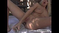 Two horny babes and two big cocks fucking in the garden HC-2-02 thumbnail
