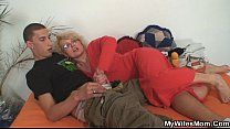 mom old her fucking him finds Wife