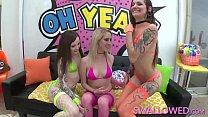 SWALLOWED Chloe, Luna and Cadence threeway deepthroat porn videos