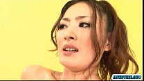 Risa Murakami chicks all covered in oil and pussy toyed porn videos
