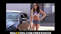 Kortney Kane grinds her wet pussy up and down a...