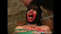 tied up slave slut fucks roughly
