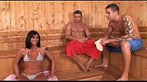 Micro tangas Sauna fuck