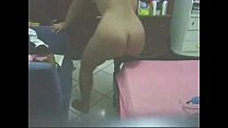 see what my mom is doing in her bed room. great hidden cam