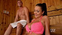 Slovak babe Pattty Michova fucks in Sauna