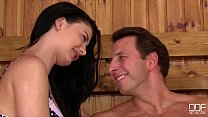 Insatiable Teen Lucy Li rides a fat dick in the...