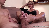 footjob   sons unexpected visit
