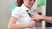 Cute Redhead Fucked by Teacher
