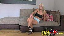 FakeAgentUK Beautiful blonde MILF gives outstanding blowjob porn videos