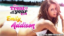 Emily Addison strips out of her bodysuit and ma...