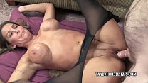 Petite housewife Leeanna Heart is taking on a stiff cock