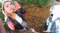 sex outdoor into tricked cutie blonde - flix Dirty