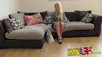 FakeAgentUK Multiple orgasms from petite blonde on casting couch porn videos