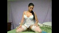Hot Latina Deep Anal Dildoing