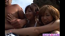 Shiho Kano and dolls suck cock on the beach porn videos