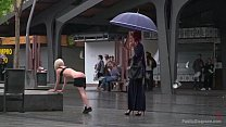 Eager Bitch Spanked And Flogged In The Rain! - ...