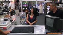 Cuban babe gives Pawnshop owner a blowjob for extra money porn videos