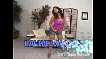 Laurie Vargas loves to squirt out of her hairy ...