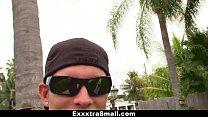 ExxxtraSmall - Slippery and Wet Teen Slides int...