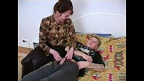 Horny mother with a impressive ass seduced by s...