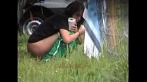 babes peeing Outdoor