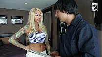 mexican cable guy fucks big titted horny girl lolly ink