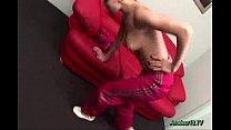 Flexible gymnast takes big sex