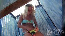 tanned blonde teen changing at the beach   see more at unrealcams.net