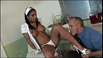Naughty doctor bangs her sexy nurse in the medical office!