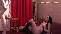 Wild cougar does erotic show for shy stranger porn videos