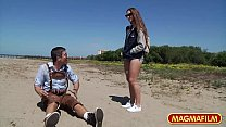 MAGMA FILM Picking up Cassidy Klein on the beach porn videos