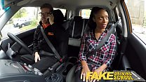 Fake Driving School busty black girl fails test with lesbian examiner porn videos
