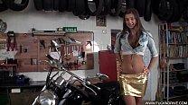 Horny Stunner On A Hot Bike