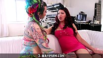 3-Way Porn - Sexy Shemale gets Fucked in Boy-Girl-Tranny Threesome