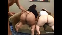 two big bbw butts vs one big cock