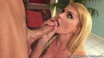 HOT MILF Sucking Off Young Guy Like Crazy