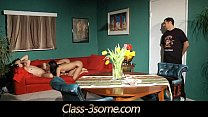 Nasty babes share in threesome their lovers