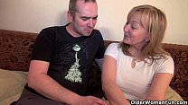 Mom seduces her toy boy with her sweet matured ...