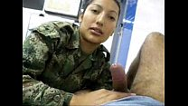 female soldier sucks my cock in uniform more at horncam666.net