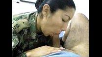 Female Soldier sucks my cock in uniform - more at horncam666.net porn videos