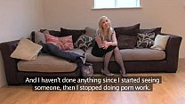 FakeAgentUK Sweet blonde desperate to get back into the business porn videos